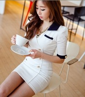 2013 Free Shipping NEW  1232 color double breasted one-piece dress YY