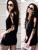 Free Shipping NEW Wide-neck 693 diamond buckle strapless tube top batwing sleeve slim hip dress one-piece dress YY