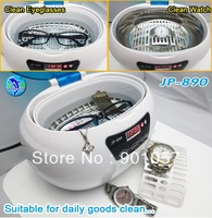 Ultrasonic eyeglasses cleaner 600ml with free white basket & watch stand free shpping