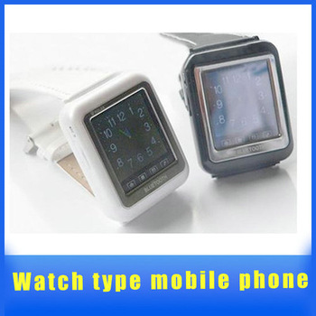 Unlocked Touch Screen Wrist Mens Watch Cell Phone DVR Hidden Camera AK09 CHEAP White