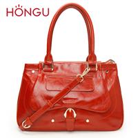 HONGGU women's handbag 2013 portable leather cross-body bag fashion genuine leather bag 7100