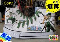 Medium cut hand-painted shoes graffiti shoes canvas shoes female male - - c093