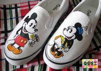 hand-painted shoes white shoesMINIMIQIshoes female 0001