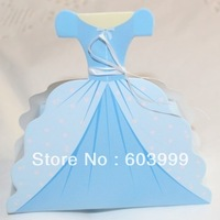 100 Princess Cinderella Dress Shaped Favor Boxes Gown Dress Wedding FAVORS Gift Boxes Girl Birthday Bridal Shower Party Favors