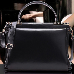 Free shipping+2013 spring new arrival quality japanned leather handbag briefcase women's personality handbag laptop bag(China (Mainland))