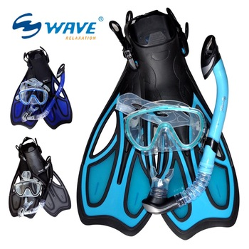 Submersible wave mirror full dry breathing tube adjust fins snorkel triratna