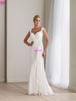 Free Shipping Stunning  Chiffon Sweetheart Sexy A-line Hot sale Discount Charming  Special Designer  2013  Bridal Wedding Dress