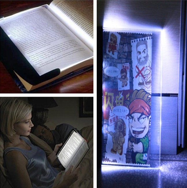 Magic A4 size paper Light flat-panel LED reading lamp Darkless Night Reading Book Light Won't Effect others sleep Free Shipping(China (Mainland))