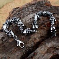 Skeleton Skulls 316 Stainless Steel Bracelet MEB101 Free Shipping!
