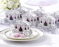 Free shipping 100pcs/lot Dream wedding candy box pumpkin carriage fairy tale princess carriage creative wedding candy box