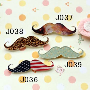 Mix order -min order is $ 20 acrylic badge popular hotsale brooch flag leopard print moustache free shipping J036 J037 J038 J039