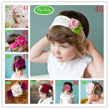 20pcs/lot-TOP BABY HEADBANDs hair head wrap band Girls infant newborn girl's Head band Flower Floral HEADBAND FOR CHILDREN