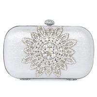 405w04 matt silk acrylic gem bag day clutch bridal bag