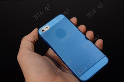 Candy Color Ultra Thin Transparent Back Hard PC Case Cover For iPhone 5 Free Shipping(China (Mainland))
