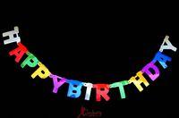 free shipping(mix $10) Birthday decoration supplies birthday banner happy birthday laser paper