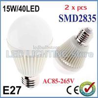 Wholesale - FREE SHIPPING 10x Bubble Ball Bulb AC85-265V 15W E27 High power Energy Saving Ball steep light LED