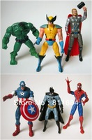 Marvel The Avengers Heros Hulk Captain America Iron Man Thor Figures Figurine Toy Lot Set of 6pc