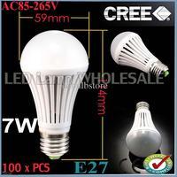 Wholesale -100pcs/lot The new price!!! 100pcs/lot 7W SMD 5050 AC85-265V E27 E26 High Power Ball Steep Light FREE SHIPPING