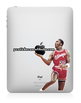 Free Shipping 2013 Hot Sell Creative Decal Jordan Decal for iPad Sticker Decal for iPad Mini Decals Stickers
