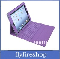 Free Shipping 5pcs Leather Case Cover with Wireless Bluetooth Keyboard for iPad ,keyboard case for ipad 2