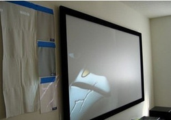 Free shipping Jk frame screen hd-w1mk carvings 100 hd nano projection screen(China (Mainland))