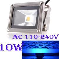10x Waterproof 10W 110-240V High Power LED Floodlight flood wall lamp Blue 10w led outdoor garden floodlight Free Shipping