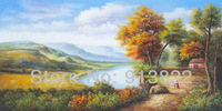 Free Shipping Oil Paintings 100% Handmade Classical Scenery Modern Art Home Decoration  from China