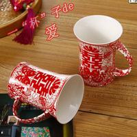 Wedding mug lovers mug husband and wife of cups glass wedding supplies