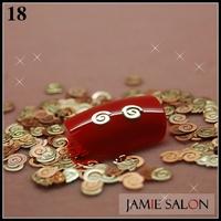 Gold Metal Art Nail Sticker Letter G Design Gold Nail Decal Metallic Decoration 1000pcs/pack Free Shipping #18