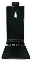 1pcs/lot free ship New Black Shine leather case for Nokia Lumia 800 ,Pouch case , Pouch case  +1pcs film