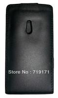 2pcs/lot free ship New Black Shine leather case for Nokia Lumia 800 ,Pouch case , Pouch case  +1pcs film