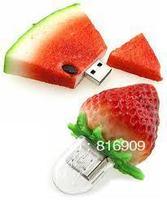 Free Shipping Watermelon & Strawberry USB Disk Flash Memory Drives