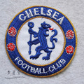 Free shipping 2 set/lot(1set=2pcs) hot sale exquisite embroidery Chelsea club logo badge fabric sticker cloth paste DIY patches