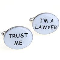 Trust me im a lawyer cufflinks nail sleeve 170133