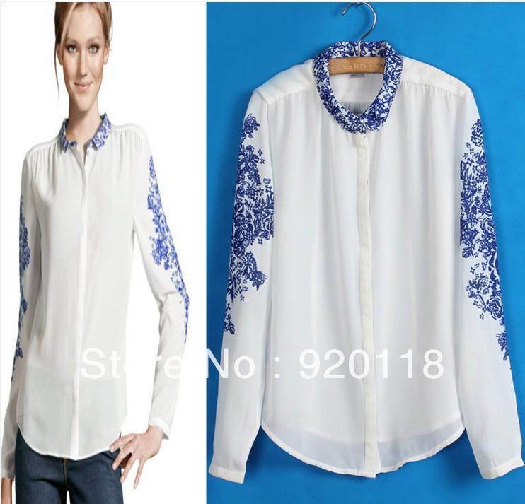 Белая блузка для полных доставка