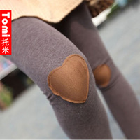 Heart legging ultra-thin slim cotton ankle length legging new arrival