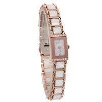 White ceramic watch fashion ladies watch ultra-small ultra-thin bracelet watch trend rhinestone table
