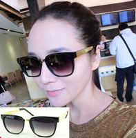 free shipping Fashion star gold mirror general sunglasses a1216 17