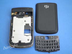 BLACK FULL HOUSING REPLACEMENT COVER CASE +KEYBOARD FOR BLACKBERRY 9700 9780(China (Mainland))