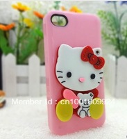 Best-selling Hello Kitty keychain cartoon mirror iphone phone chain phone decoration accessories, bag ornaments