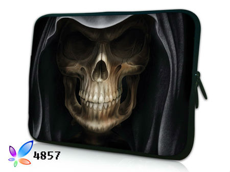 "15"" 15.4"" 15.6"" Cool Skull Design Neoprene Laptop Case Double Zipper Notebook Sleeve Bag Computer PC Skin Cover Pouch For Sony(China (Mainland))"