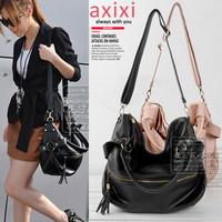 2011 spring bags women's rivet handbag women's tassel handbag one shoulder handbag