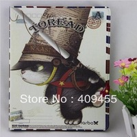 2013 new Personalized cute Cartoon Style PU Leather stand Case Cover For iPad mini 7.9 inch Tablet Protector Shell Free Shipping