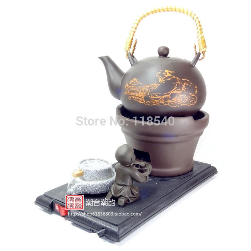 Dispositivos de aquecimento bolha iopened isolamento de água de cerâmica bule chaleira de aquecimento elétrico de água fervente pote 0.6l(China (Mainland))