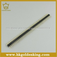 20pcs/lot  1x40 Pin 2.54mm DIP  Single Row Pin Round Pin  Male Header Connector  Free Shipping