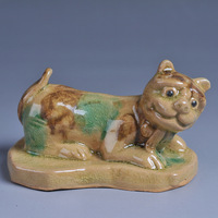 Glaze pottery traditional crafts paperweight tiger decoration lucky evil spirits