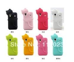 3D Cute Cat Soft Silicone Back Cover Case For Samsung Galaxy Ace S5830 Free Shipping(China (Mainland))