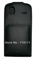 2pcs/lot free ship New Black Shine leather case for HTC G22 Amaze 4G ,Pouch case   +1pcs film