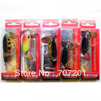 4pcs YAYIDA Jointed (2 sections) Jitterbug Jitter Bug Top Water Fishing Lures Baits 65mm 12.8g