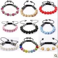 11 drill ball manufacturers selling shamballa Bracelets shambhala bracelet hand woven quality